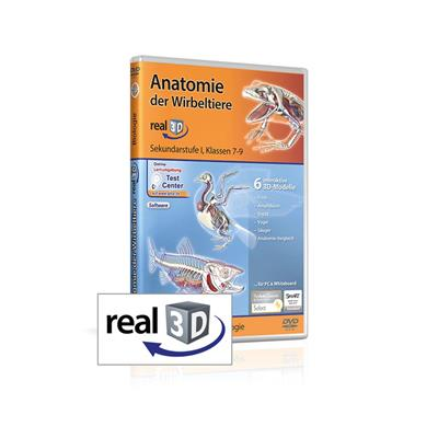 Anatomie der Wirbeltiere real3D-Software, DVD