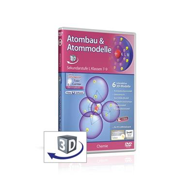 Atombau & Atommodelle real3D-Software, DVD